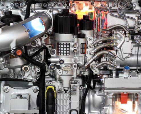 heavy truck engine detail
