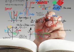 hand writing math and science formula